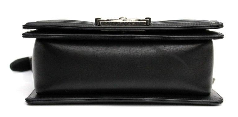 Chanel Black Leather Small Boy Bag 1