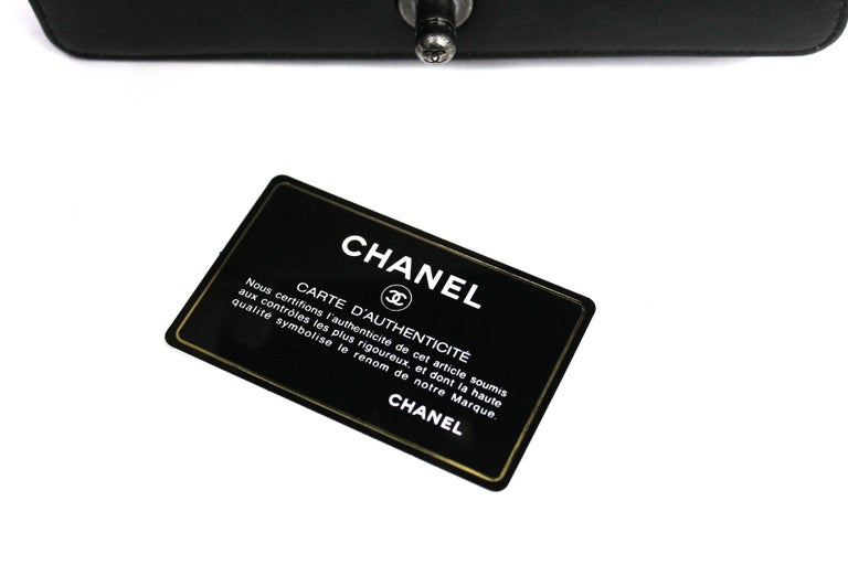 Chanel Black Leather Small Boy Bag For Sale 2