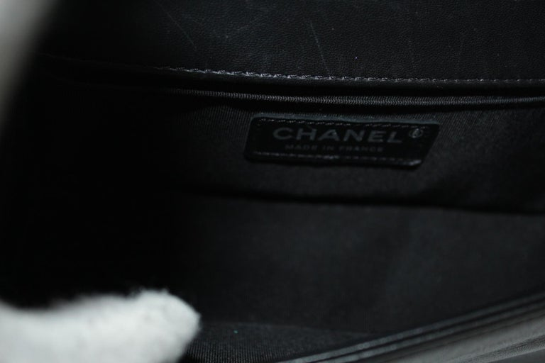 Chanel Black Leather Small Boy Bag For Sale 3