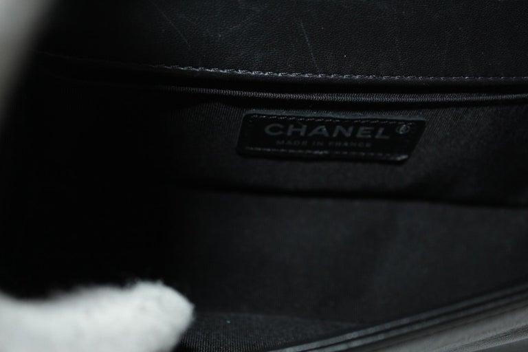 Chanel Black Leather Small Boy Bag 3