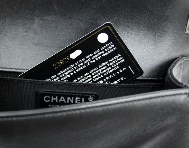 Chanel Black Leather Small Boy Bag For Sale 4