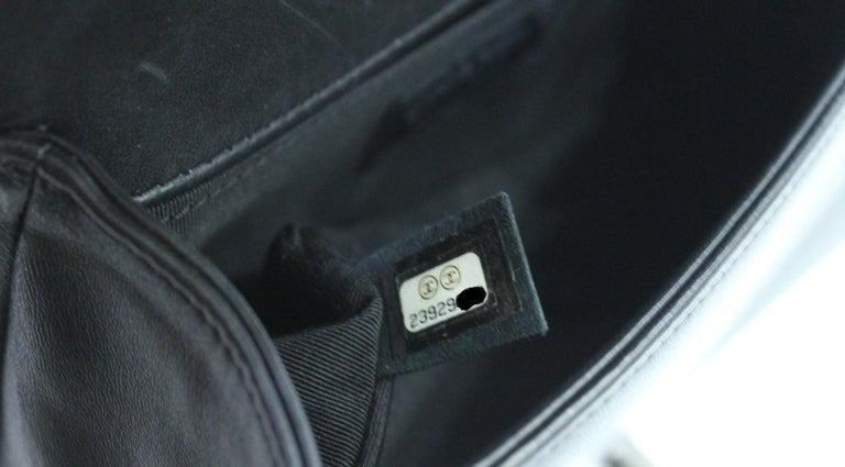 Chanel Black Leather Small Boy Bag 5