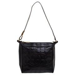 Chanel Black Leather Small Chocolate Bar Shoulder Bag