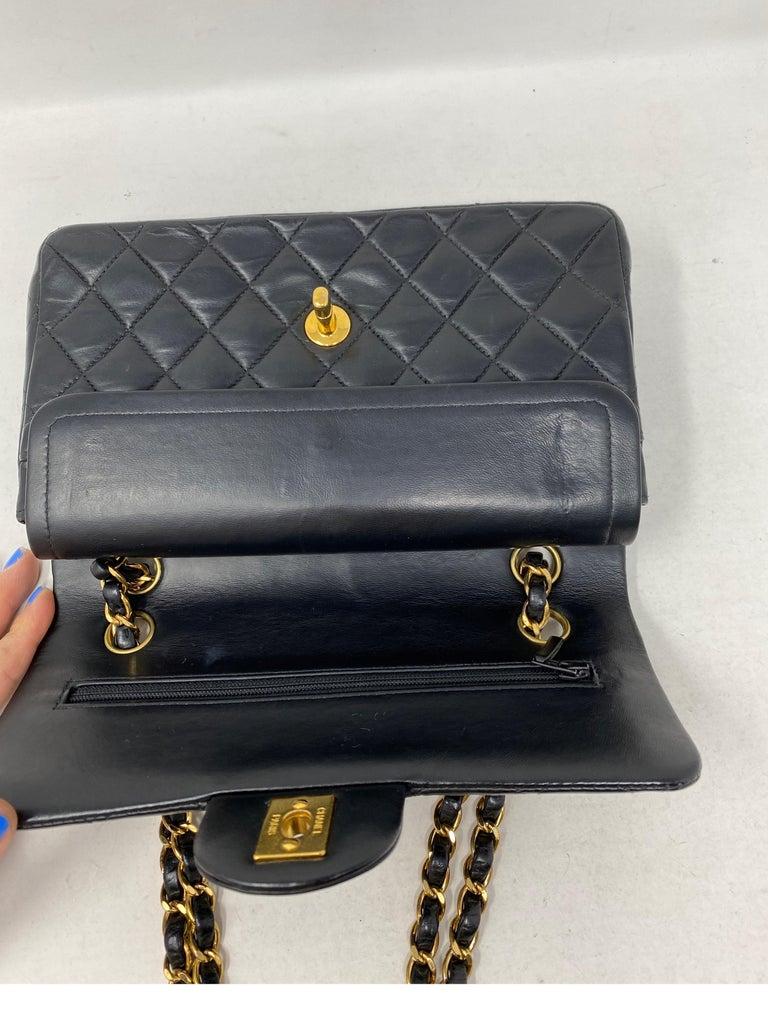 Chanel Black Leather Vintage Flap Bag  For Sale 6