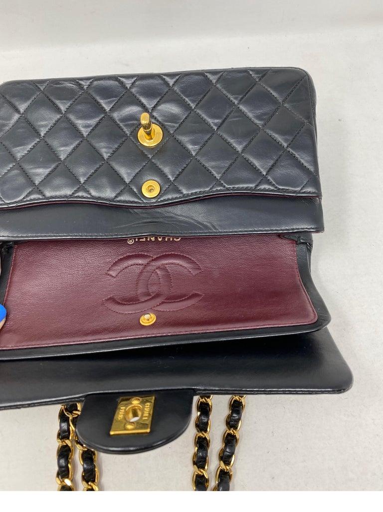 Chanel Black Leather Vintage Flap Bag  For Sale 7