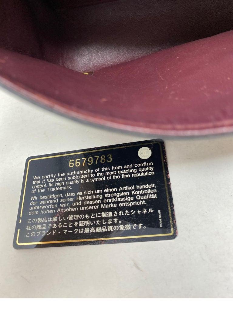 Chanel Black Leather Vintage Flap Bag  For Sale 11
