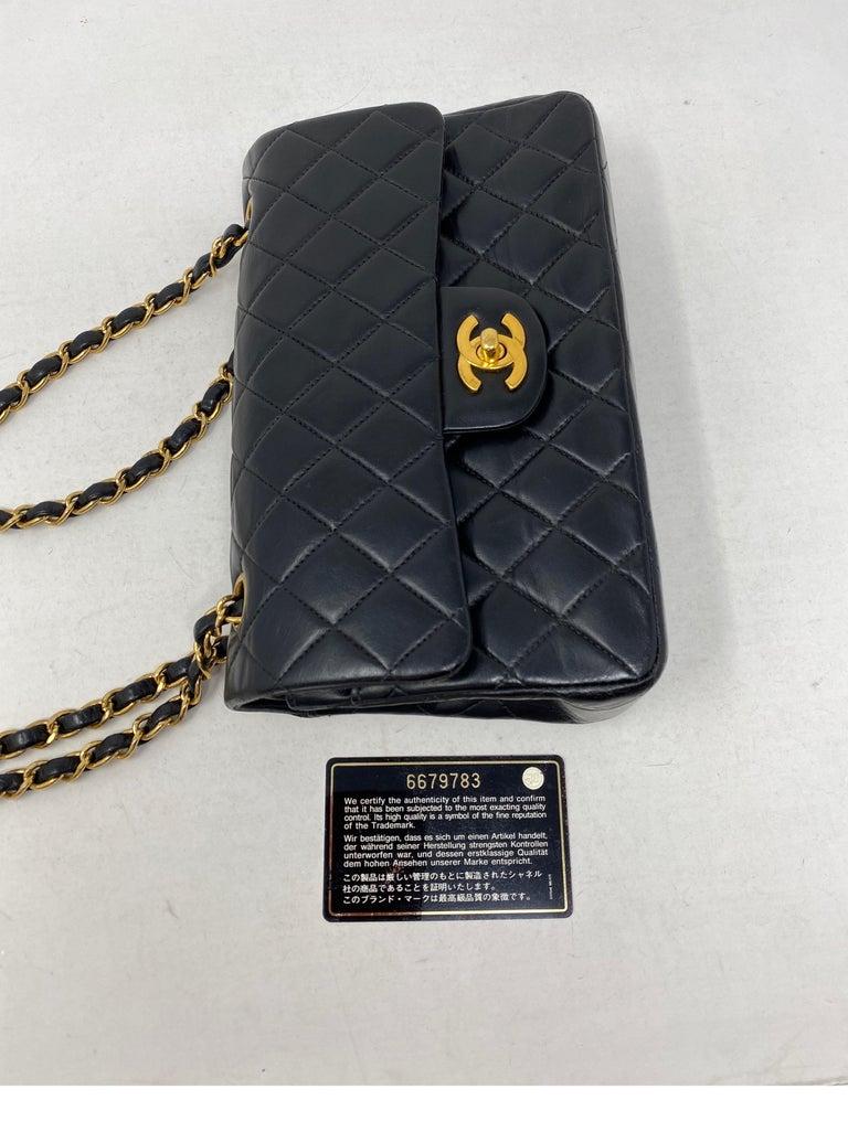 Chanel Black Leather Vintage Flap Bag  For Sale 12