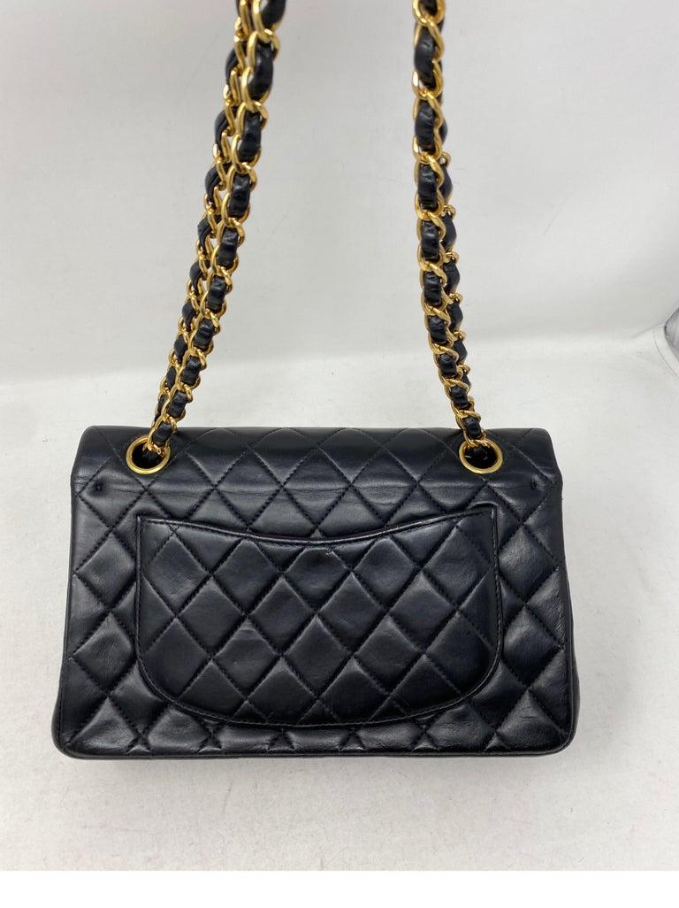 Chanel Black Leather Vintage Flap Bag  For Sale 13