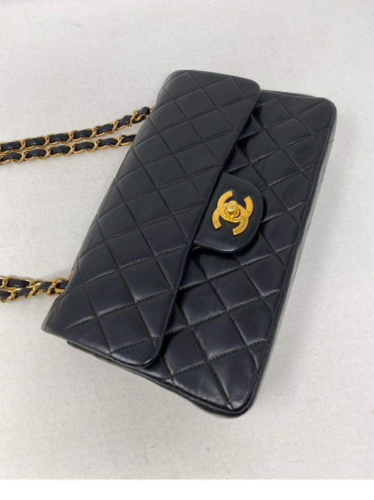 Chanel Black Leather Vintage Flap Bag  For Sale 14