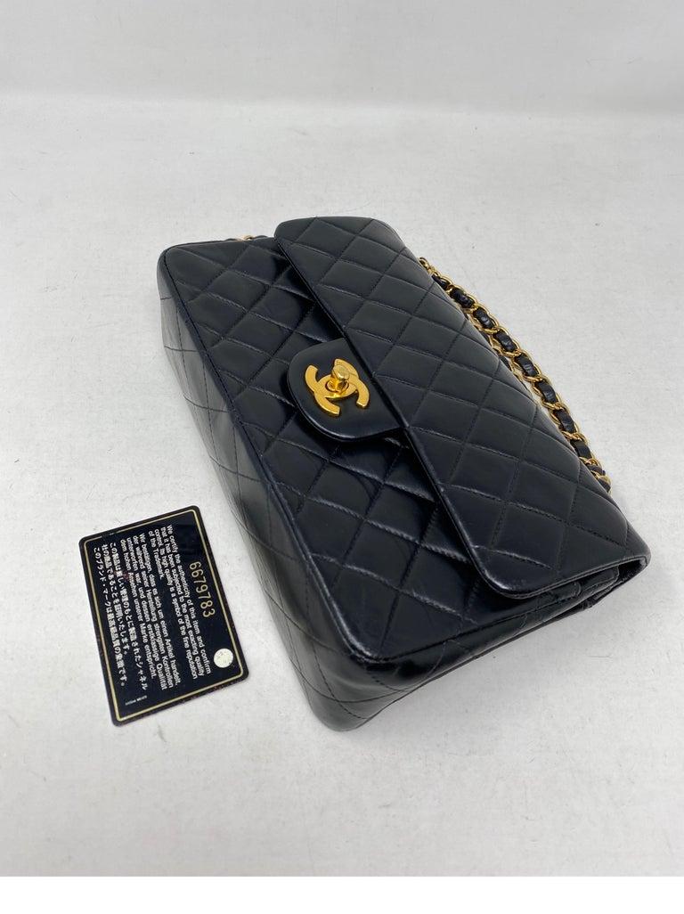 Chanel Black Leather Vintage Flap Bag  For Sale 15