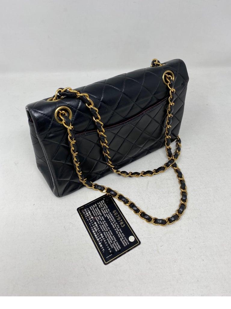 Chanel Black Leather Vintage Flap Bag  For Sale 16
