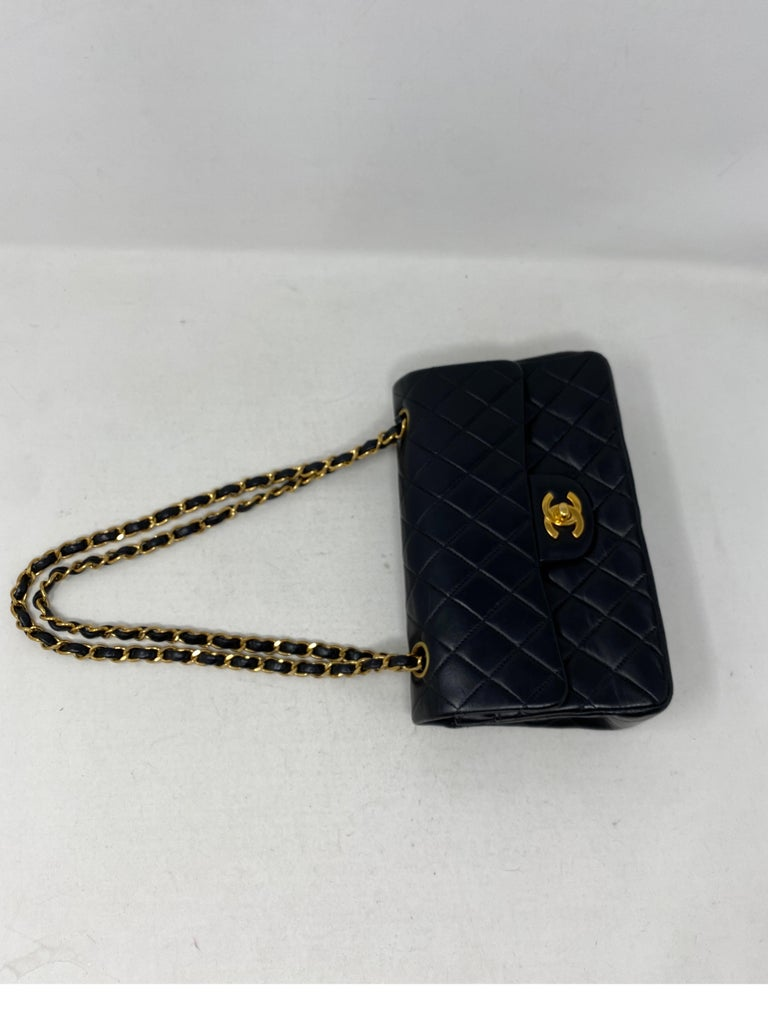 Chanel Black Leather Vintage Flap Bag  In Good Condition For Sale In Athens, GA