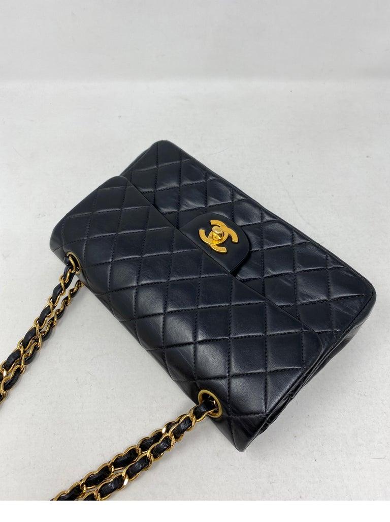 Women's or Men's Chanel Black Leather Vintage Flap Bag  For Sale