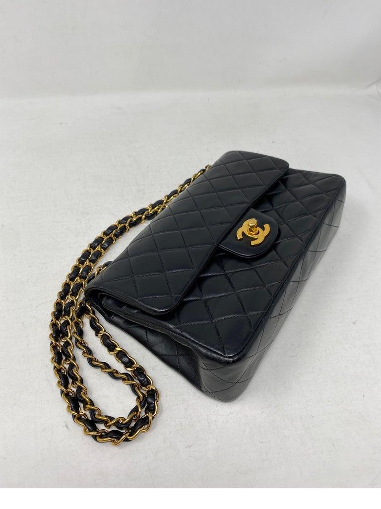 Chanel Black Leather Vintage Flap Bag  For Sale 1