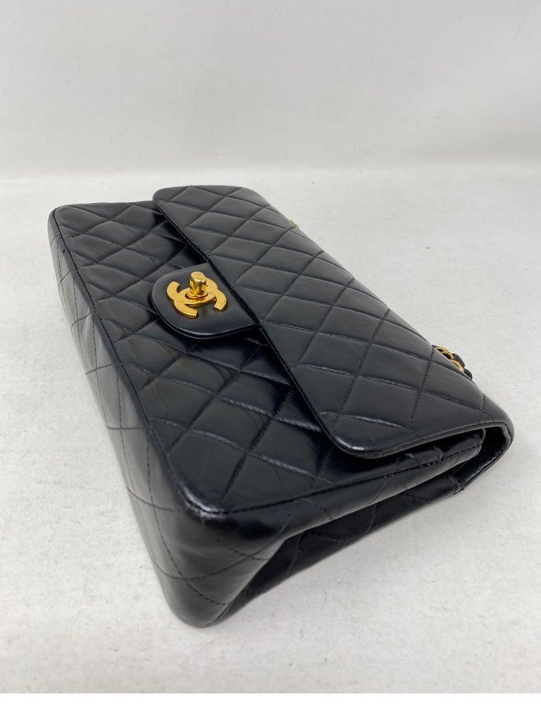 Chanel Black Leather Vintage Flap Bag  For Sale 2