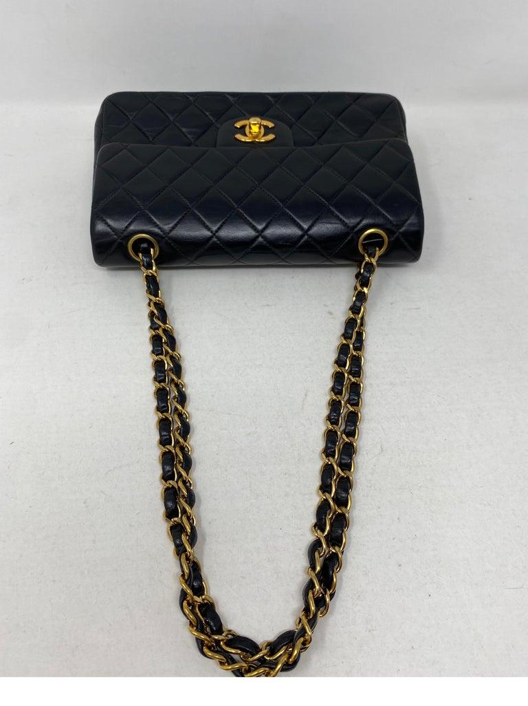 Chanel Black Leather Vintage Flap Bag  For Sale 5