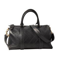 Chanel Black Leather Vintage Speedy Bag