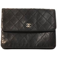Chanel Black Leather Vintage Wallet