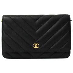 Chanel Black Leather Woc Bag