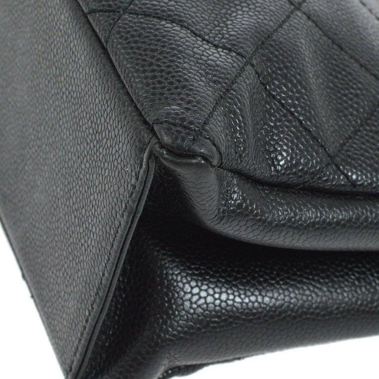 Chanel Black Leather Wood Gold Evening Shoulder Flap Bag For Sale 2