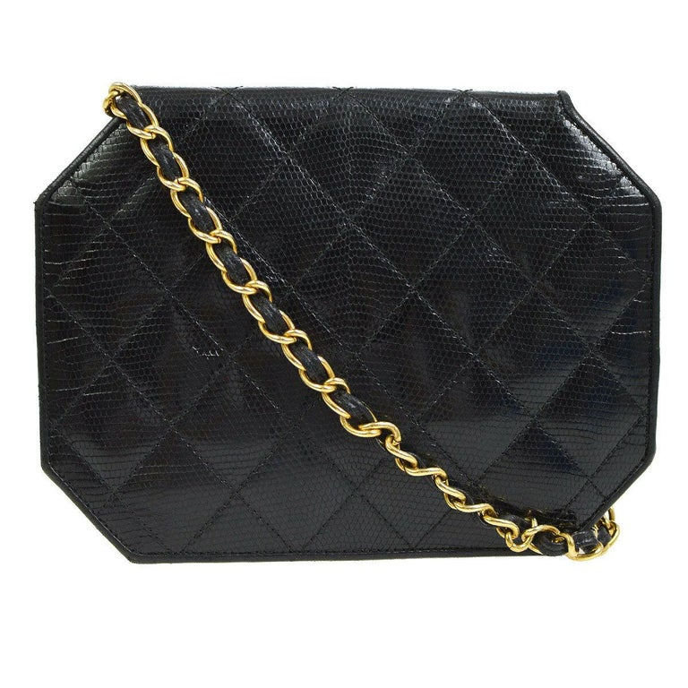 The Exotic Chanel to Complete Your Collection.  Since announcing the discontinuation of exotic skin handbags, the demand for exotic Chanel has increased tenfold.  And the demand for lizard skin Chanel is no exception.   Crafted of exotic lizard skin