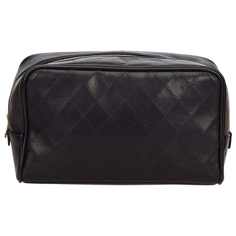 d4baaa05cf49 Chanel Black Matelasse Leather Clutch Bag at 1stdibs