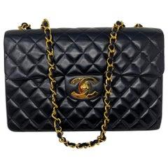 Chanel Black Maxi Lambskin Flap Bag