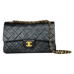 Chanel Black Medium Classic/Timeless Double Flap Bag