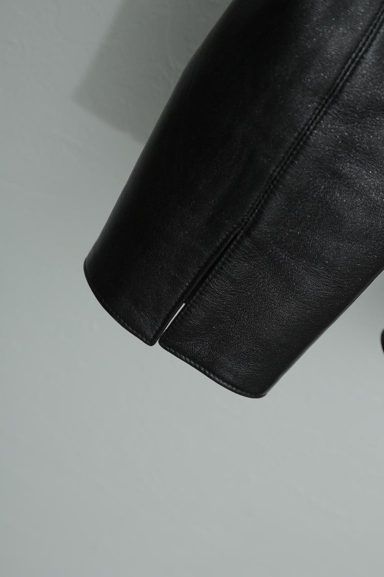 Chanel Black Metallic Fitted with Silver Logo Buttons Jacket In Excellent Condition For Sale In West palm beach, FL