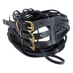 Chanel Black Multi Strap Eur 75 Us 30 166993 Cctl22 Belt