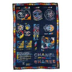 Chanel Black Multicolor Cashmere Shawl