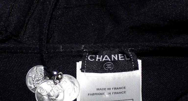 Women's UNWORN Chanel Black Neckholder Swimsuit with Coco No 5 Logo Coin Details  For Sale