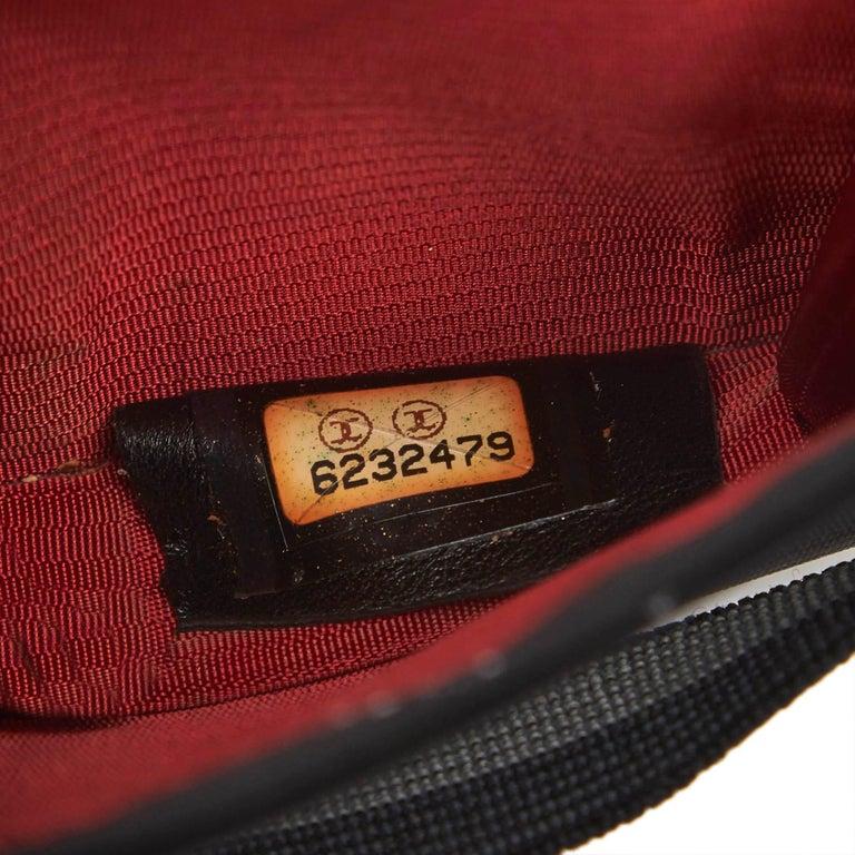 e454e091e7d2 Chanel Black Nylon Fabric Old Travel Line Card Holder France For Sale 4