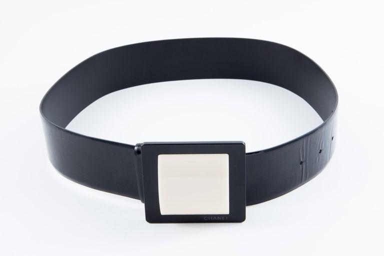 Women's Chanel Black Patent Lamb Belt  For Sale