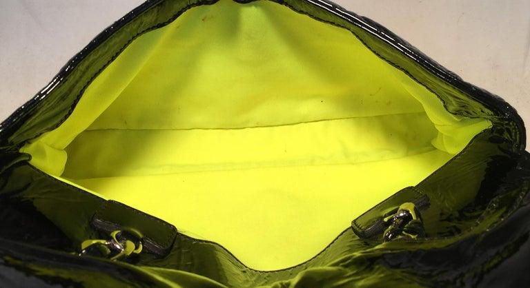 Chanel Black Patent Leather 2 way Classic Flap Shoulder Bag  For Sale 7