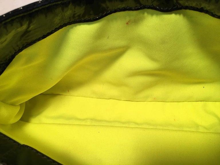 Chanel Black Patent Leather 2 way Classic Flap Shoulder Bag  For Sale 9