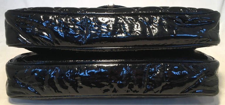 Chanel Black Patent Leather 2 way Classic Flap Shoulder Bag  For Sale 1