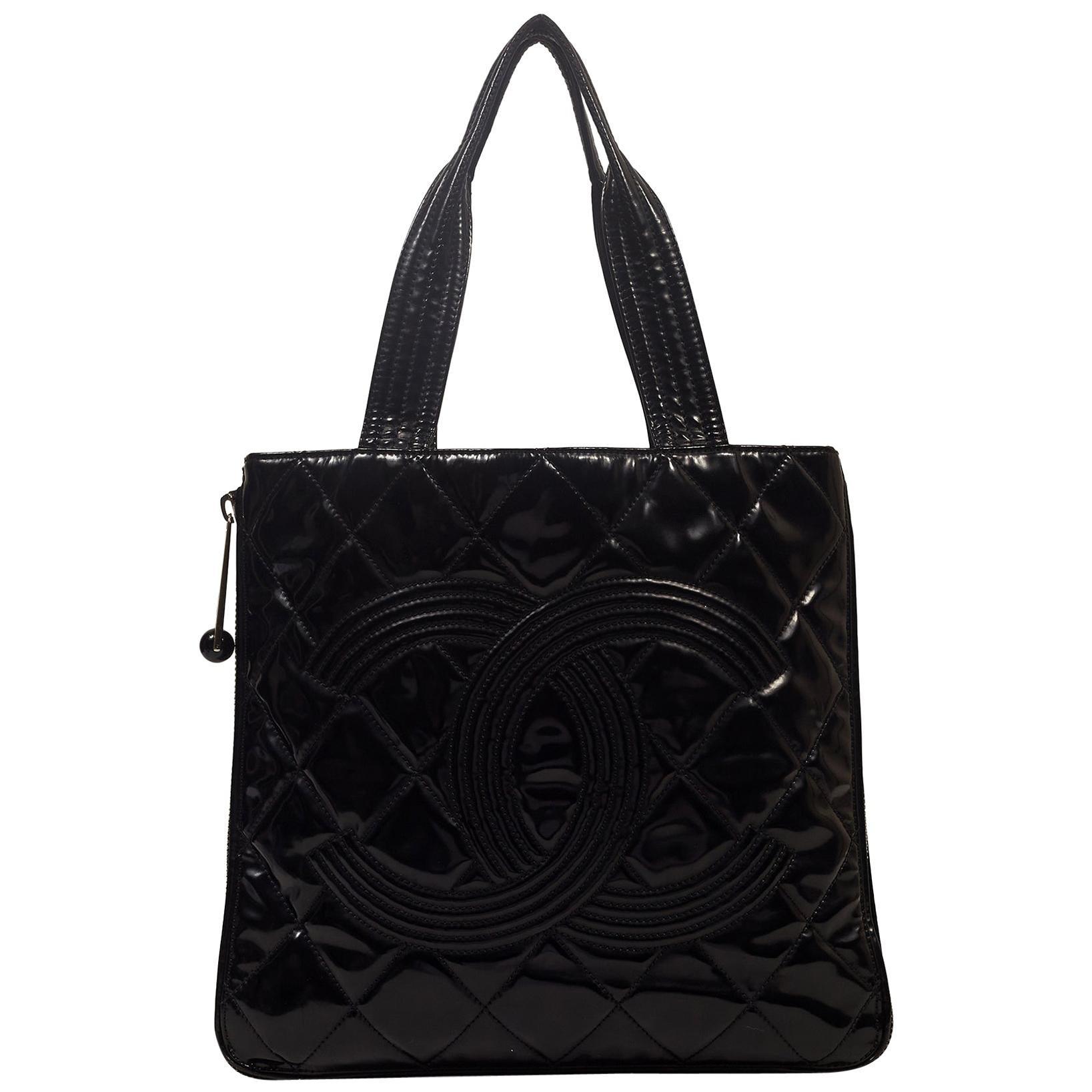 Chanel Black Patent Leather Paris-Shanghai Expandable Tote GST