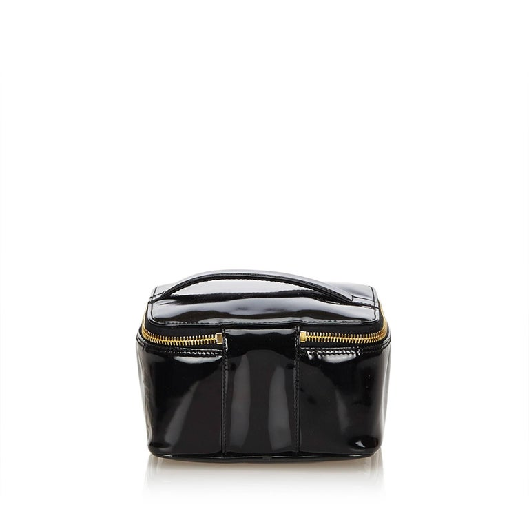 c8785e425826 Chanel Black Patent Leather Vanity Bag In Excellent Condition For Sale In Sheung  Wan, HK