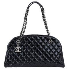 Chanel Black Patent Mademoiselle Medium Bag