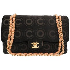 Chanel Black Ponyhair Leather CoCo Gold Medium Evening Shoulder Flap Bag