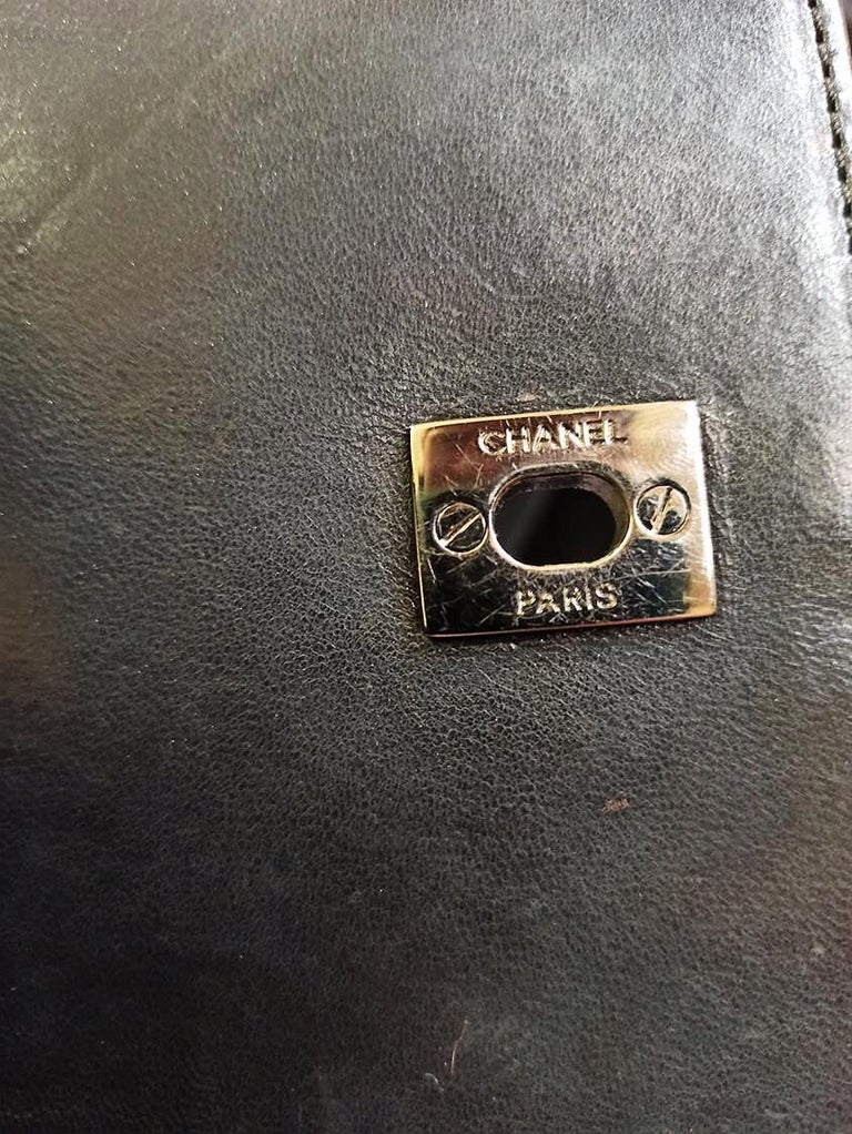 Chanel Black Python Classic Bag For Sale 2