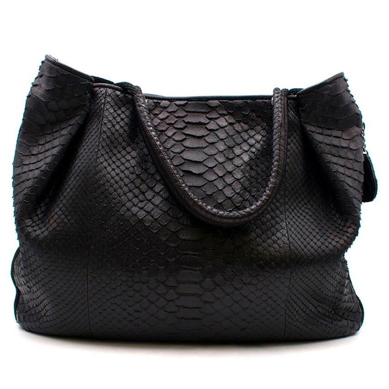ee0e3cd94f51 Chanel Black Python Large Classic Shopper Tote In Good Condition For Sale  In London