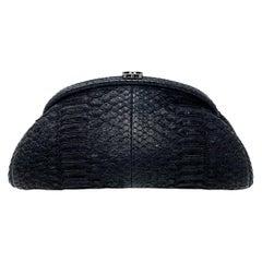 Chanel Black Python Leather Timeless Clutch, 2011