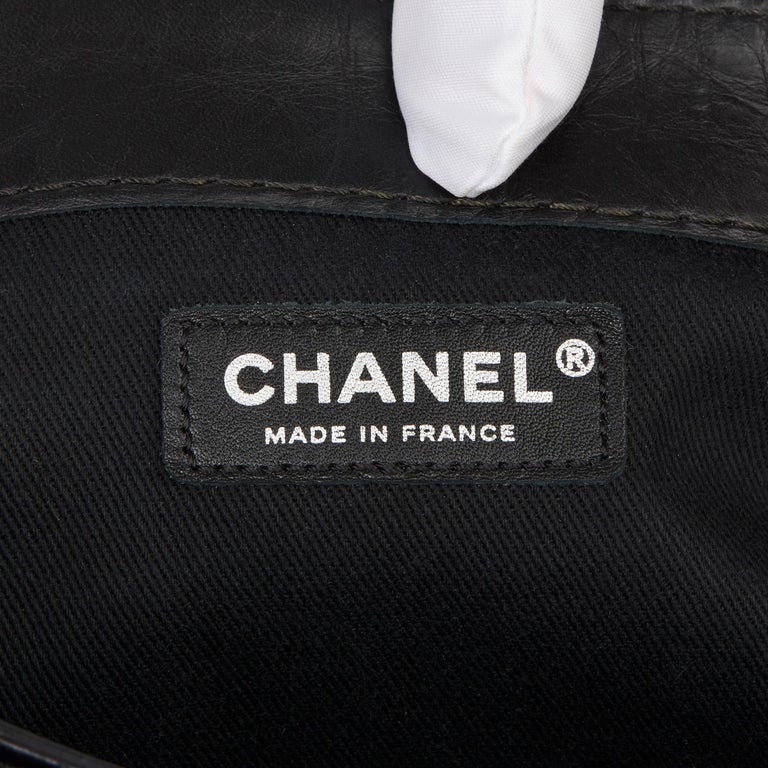 Chanel Black Quilted Aged Calfskin Leather Jumbo Lady Pearly Flap Bag For Sale 4