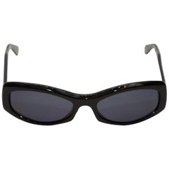 Chanel Black Quilted Arm Sunglasses