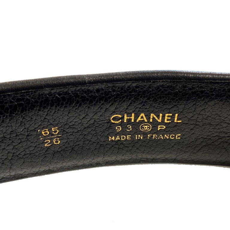 Women's CHANEL Black Quilted Belt