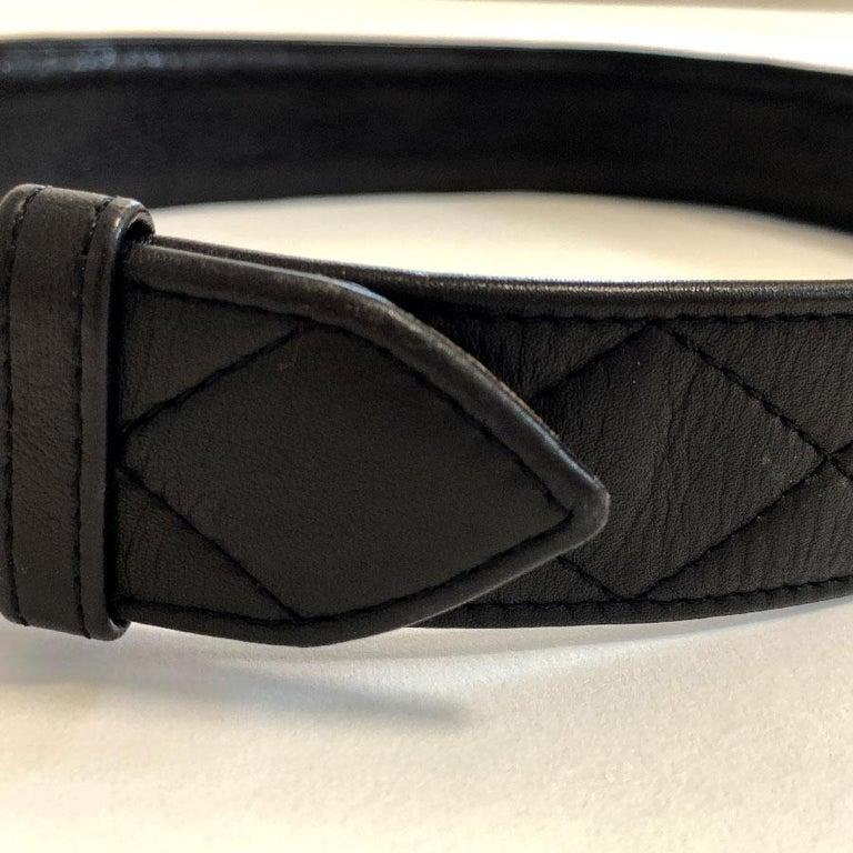 CHANEL Black Quilted Belt 2