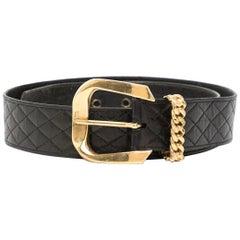 Chanel Black Quilted Belt