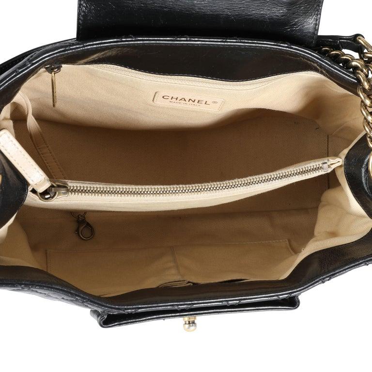 Chanel Black Quilted Boy Front Pocket Shopping Bag For Sale 1